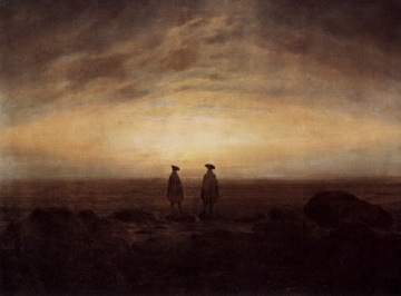 Two Men By The Sea. Caspar David Friedrich (1774 - 1840)