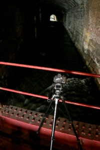 Filming underneath the Dark Arches, Leeds. Photograph Tom Rodgers 2013.