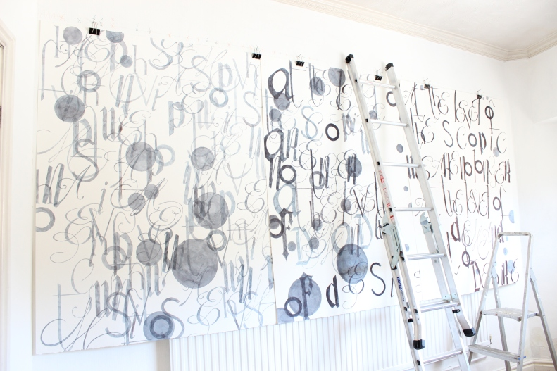 Trying to make a book of and with the space. My studio. Emma Bolland 2014